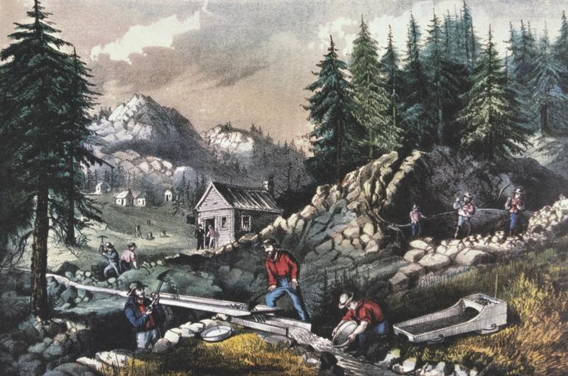 Scenes of the 1849 Californian Gold Rush
