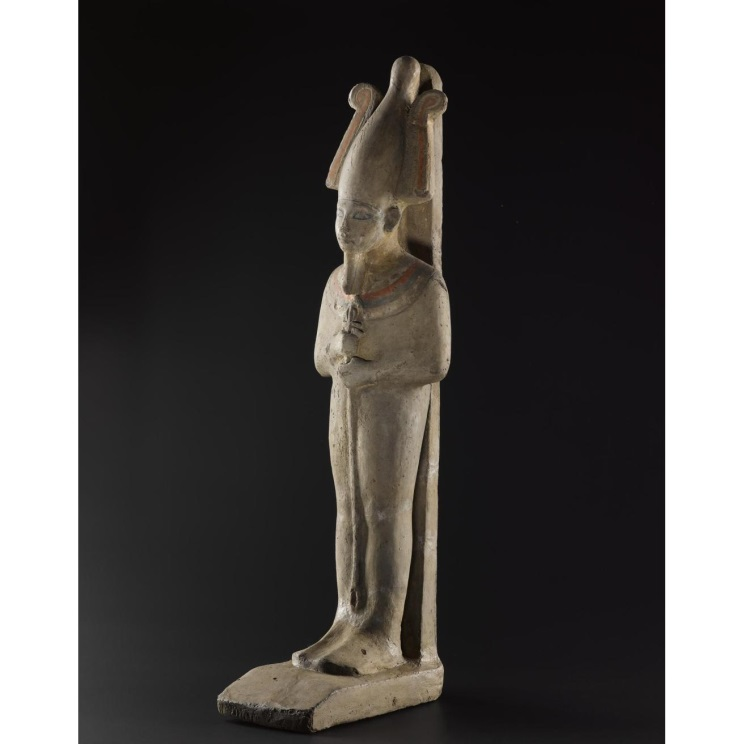 Clay statue of the afterlife god Osiris