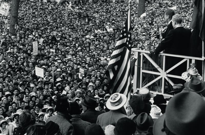 Jack Kennedy in Hartford, Connecticut, November 1960