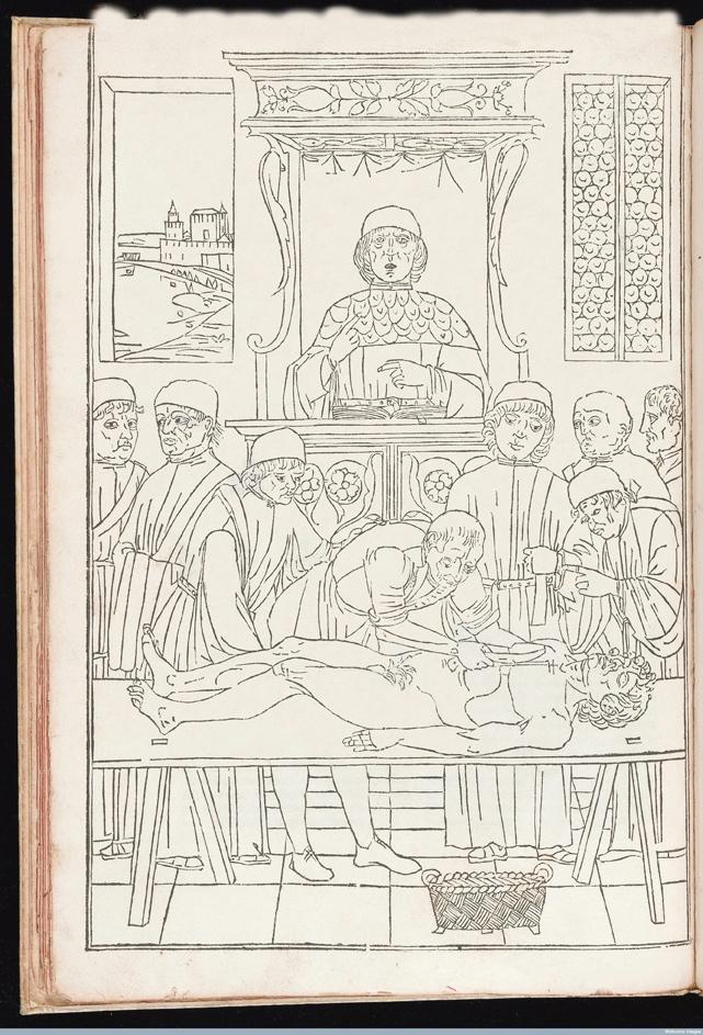 L0043657 Woodcut dissectionCredit: Wellcome Library, London. Wellcome Imagesimages@wellcome.ac.ukhttp://wellcomeimages.orgWoodcut dissection. Anatomy. Autopsy.1495 Fasciculus medicine. [F.1a.tit:] Fasciculus medicine in quo continentur: videlicet. ... [F.40b] Hecanothomia fuit emendata ab eximio artium ... Impressum Venetiis per Joannem et Gregorium de Gregoriis fratres. Anno domini Mccccxcv die xv Octobris /Joannes de KethamJoannem et Gregorium de Gregoriis Fratres.Published: 1495.Copyrighted work available under Creative Commons Attribution only licence CC BY 4.0 http://creativecommons.org/licenses/by/4.0/