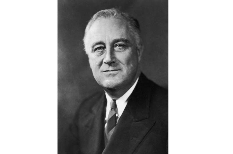 American president Franklin D Roosevelt