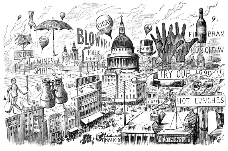 Punch cartoon depicting St Paul's Cathedral
