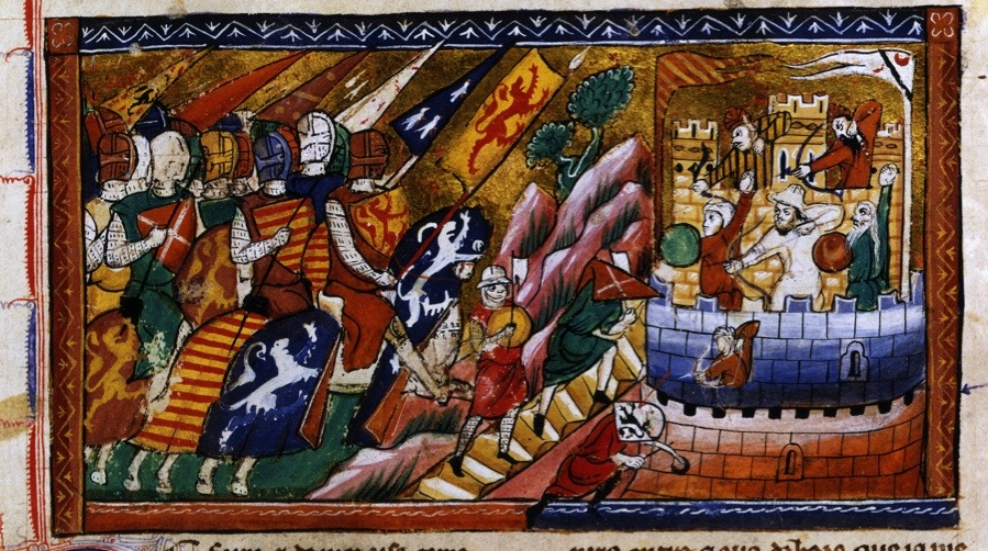 A4JY7H Siege of Antioch c1097 14th century