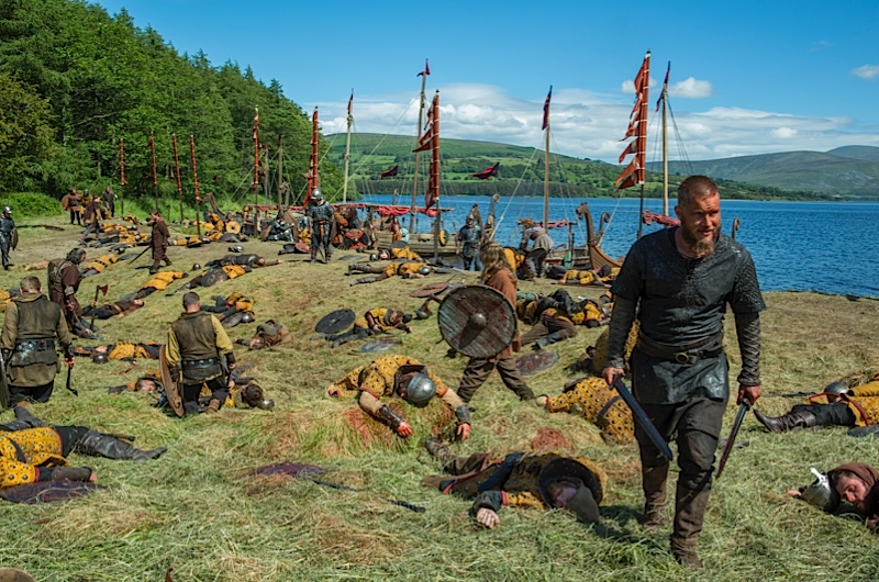 "VIKINGS - Series 3, Episode 2 ""The Wanderer"" - Lagertha and Athelstan help to set up the Viking settlement; a mysterious wanderer turns up"