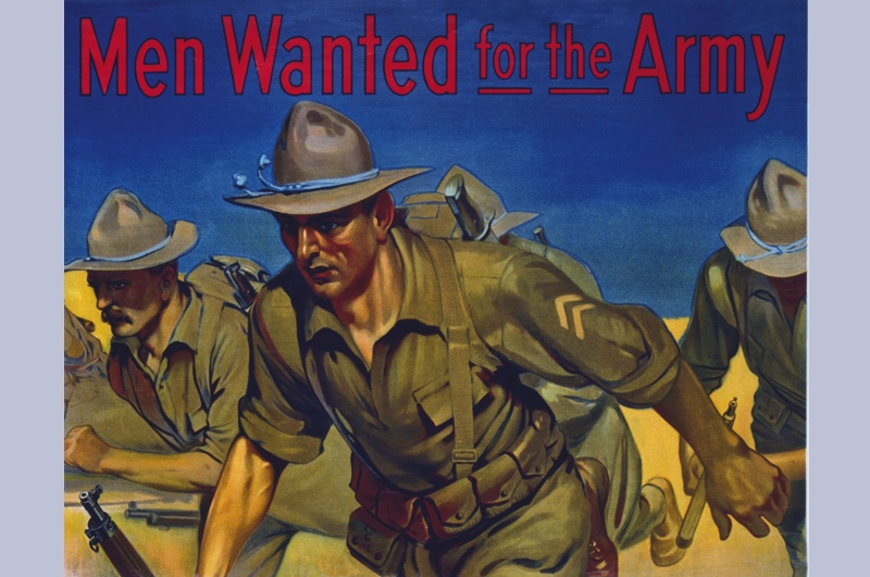 "An American recruitment poster. ""US forces showed an impressive ability to learn at speed,"" says Nick Lloyd. (© Getty)"