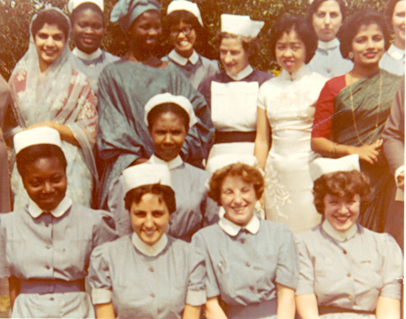 Nurses at South London Hospital in 1950