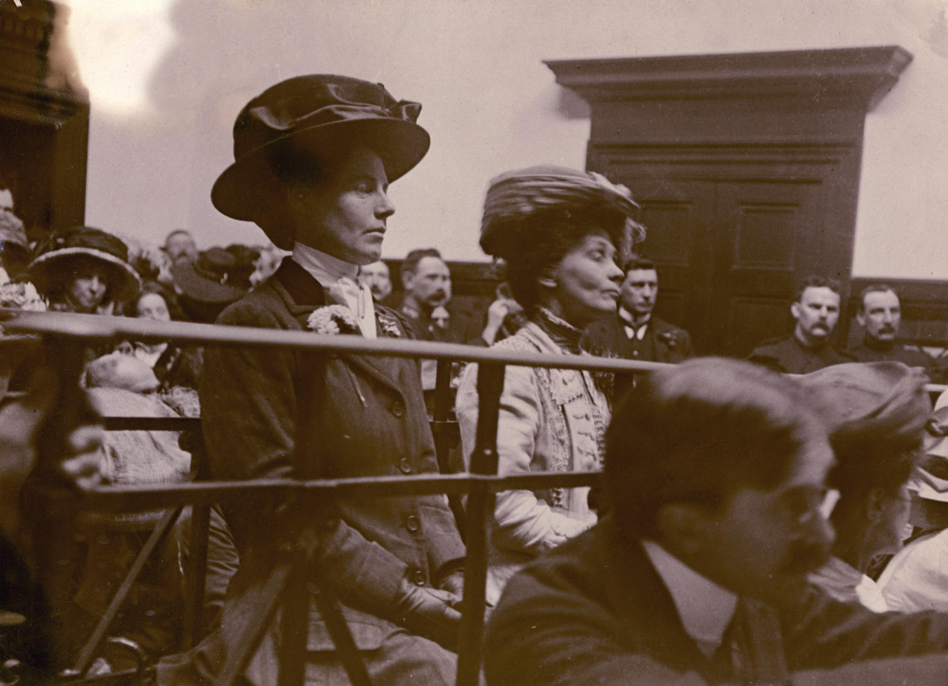 Evelina Haverfield and Emmeline Pankhurst