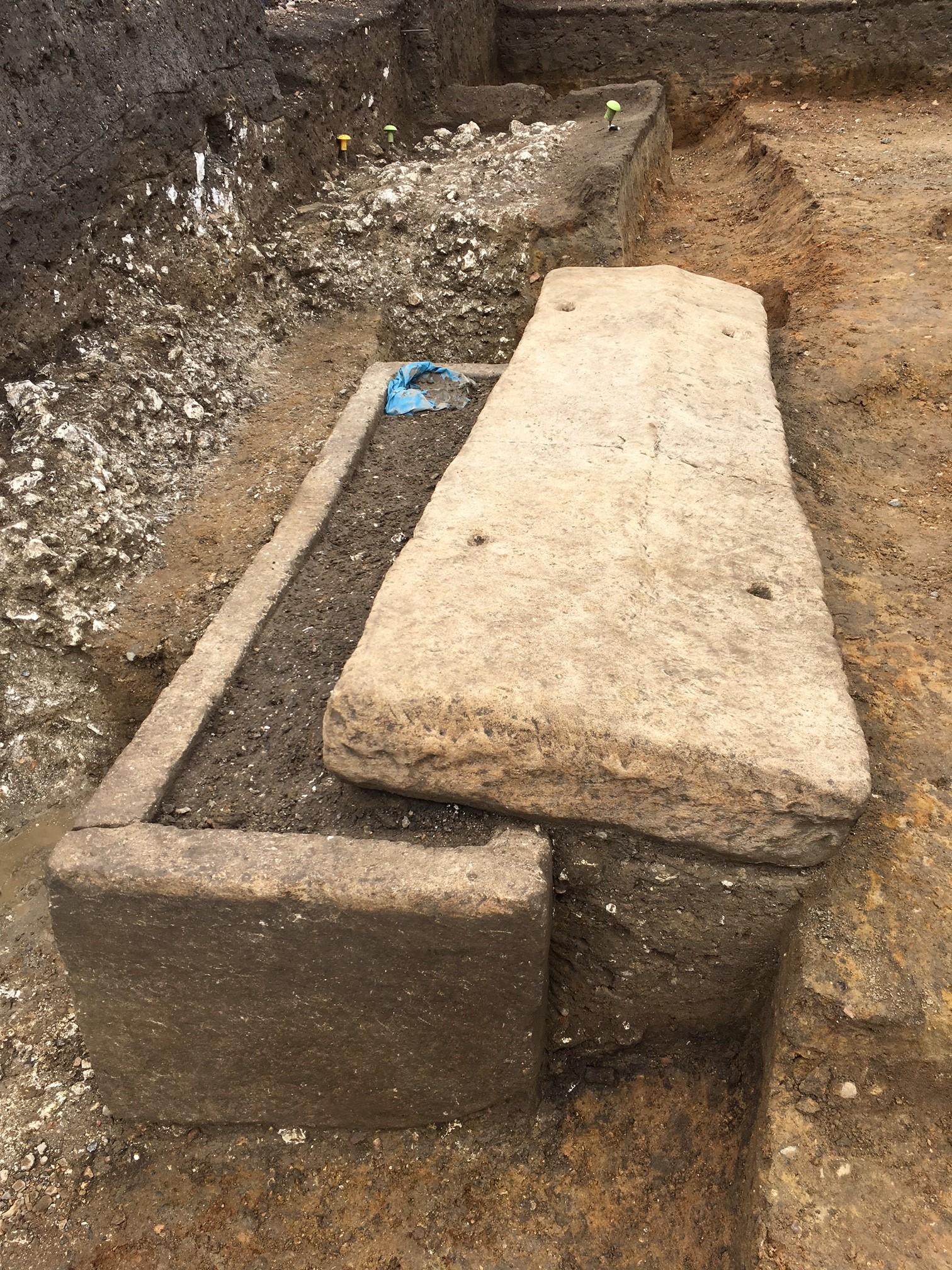 Roman stone sarcophagus
