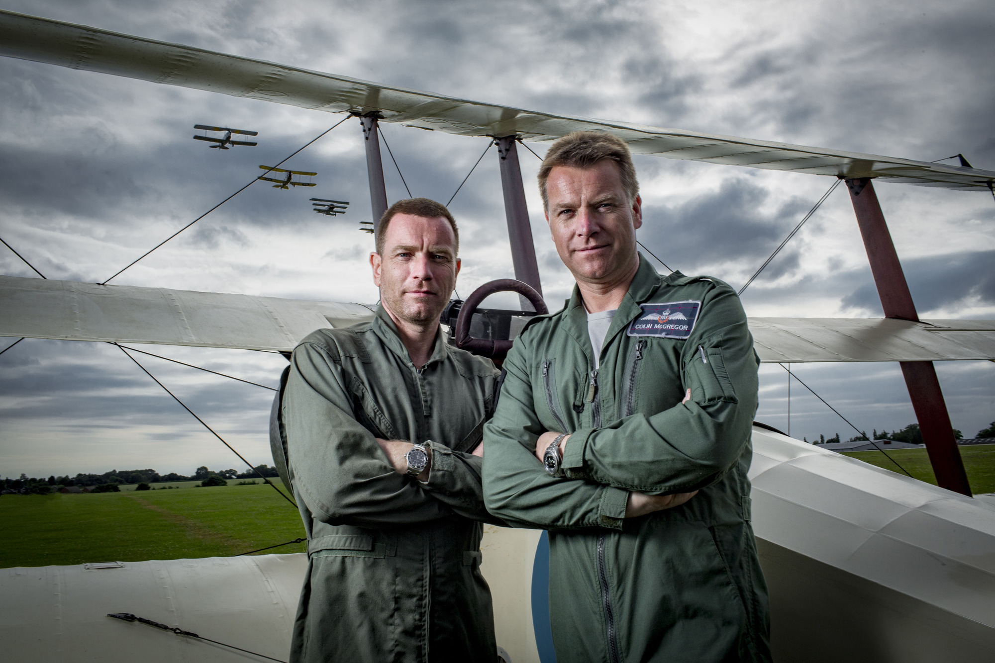 RAF at 100 with Ewan and Colin McGregor. (BBC/Lion TV/Freddie Claire)
