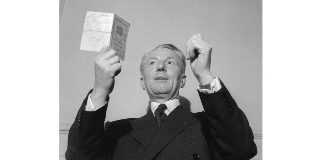 Clarence Harry Willcock MP, who refused to show his identity card to a policeman, 13 June 1951. (Photo by Walter Bellamy/Express/Getty Images)
