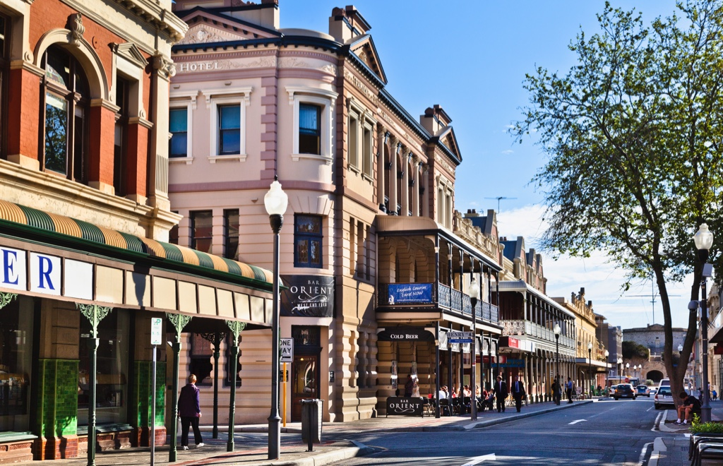Fremantle's High Street, with 19th-century buildings.