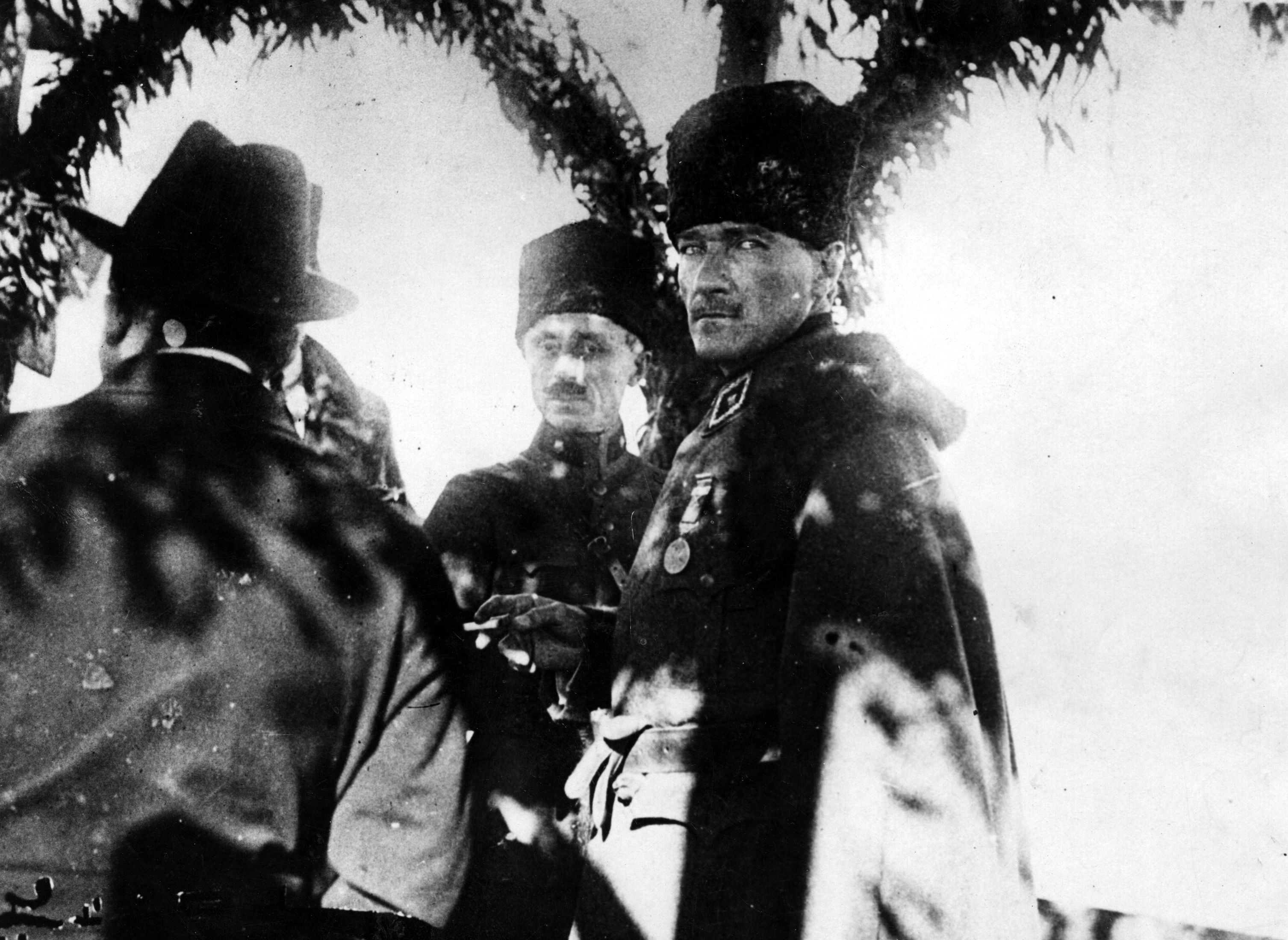 """Mustafa Kemal Atatürk. He """"had absolutely enormous charisma, which grew the older he got,"""" says Norman Stone. (Hulton Archive/Getty Images)"""