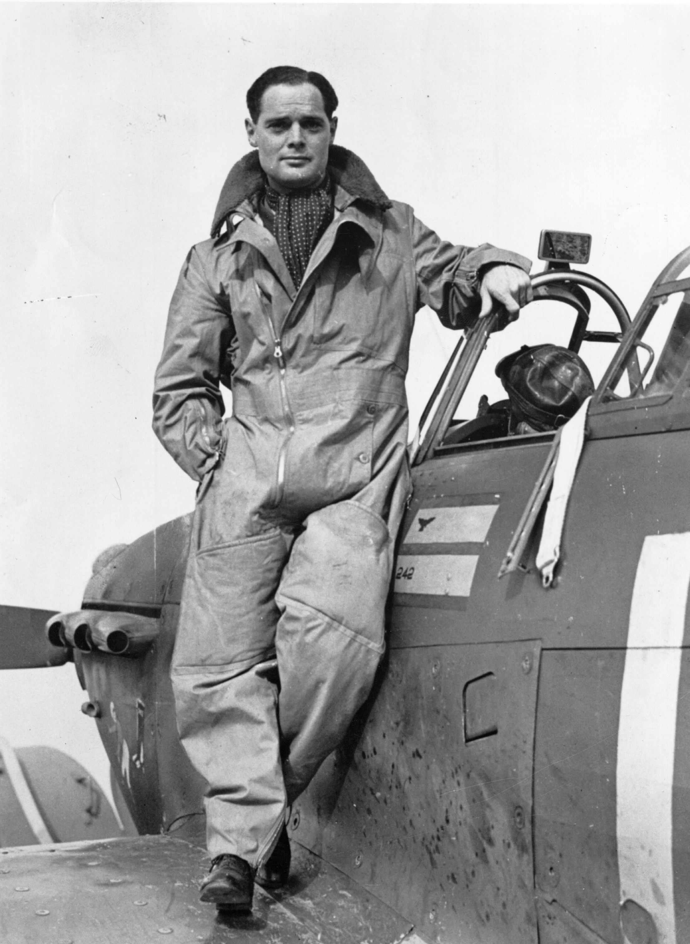 """Douglas Bader. """"It wouldn't be particularly good news to hear: 'Welcome onboard this Ryanair flight to Malaga. I'm Captain Bader,"""" says Jonathan Agnew. (Photo by Evening Standard/Getty Images)"""
