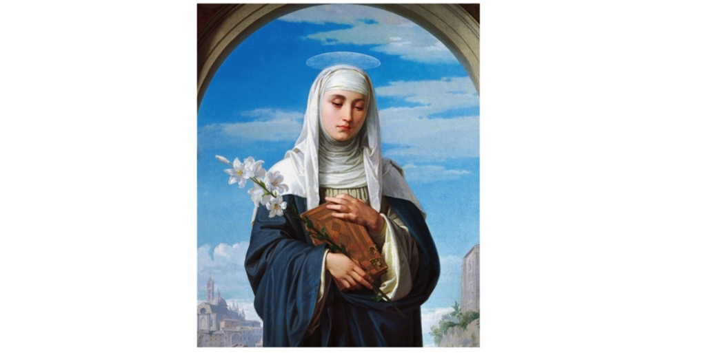 A portrait of Catherine of Siena, who in the 1360s experienced a vision from God during which – according to her biographer, Raymond of Capua – she drank the water from the wound in Christ's side. (Photo by DeAgostini/Getty Images)