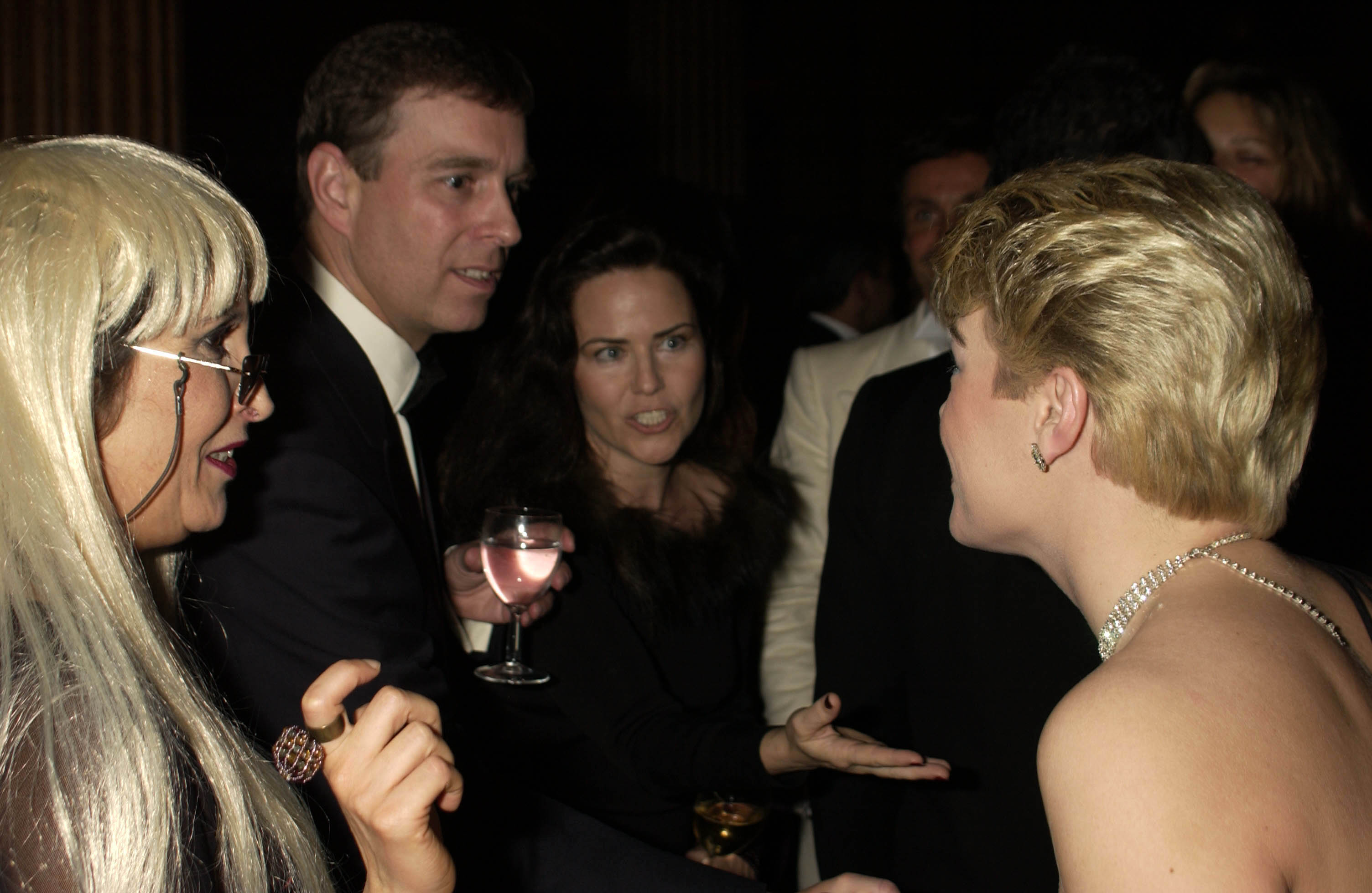 Prince Andrew and Koo Stark, pictured together at a society party. (Photo by Dave Benett/Getty Images)