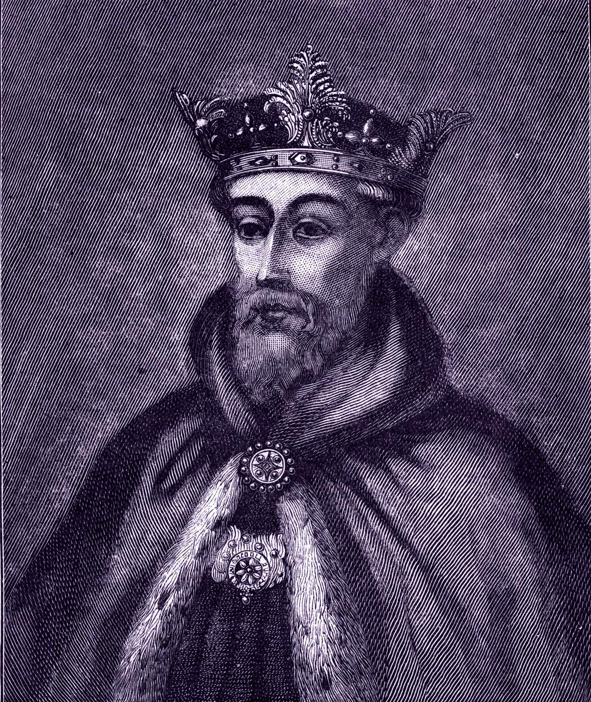 A portrait of John of Gaunt, 1st Duke of Lancaster.