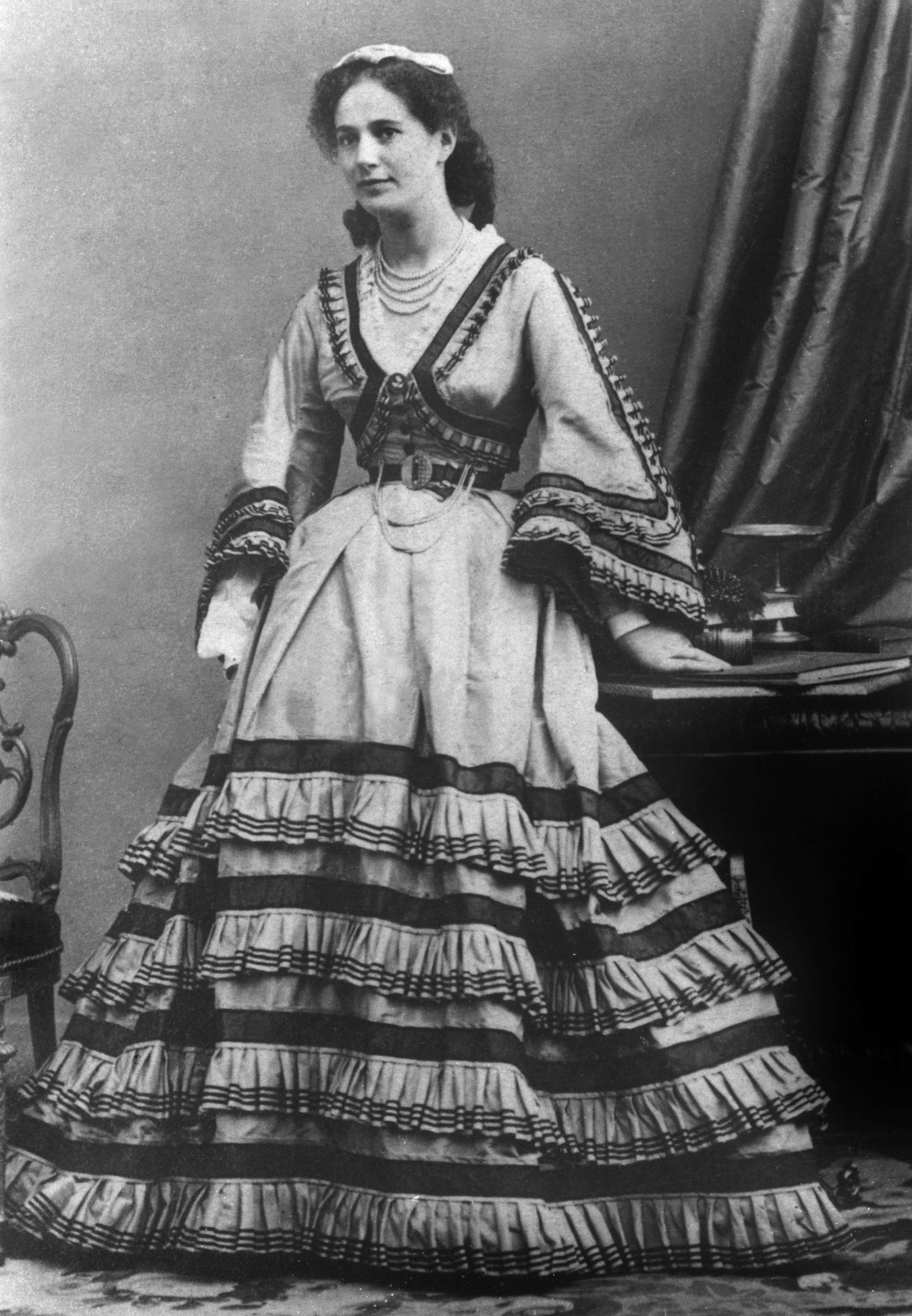Actress Marguerite Bellanger, who was a mistress of French emperor Napoleon III