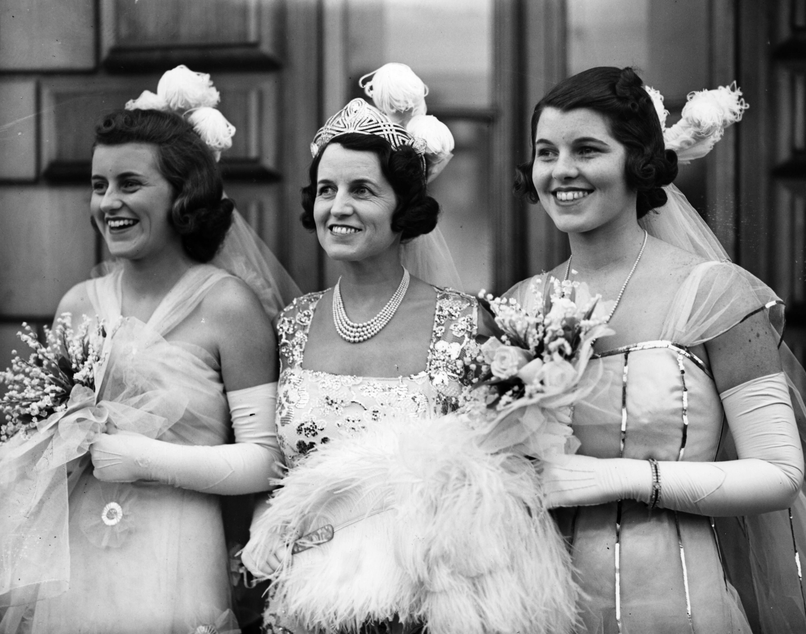 Rosemary Kennedy (right), the eldest Kennedy daughter. Pictured here with her mother Rose (centre) and sister Kathleen, during the family's residency in Britain in the late 1930s. (Photo by Keystone/Getty Images)