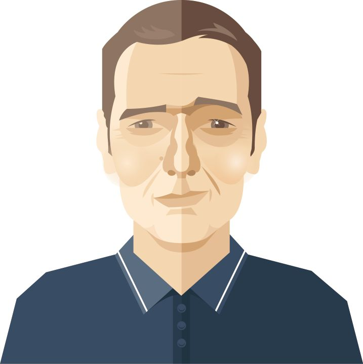 Cartoon of Ned Boulting