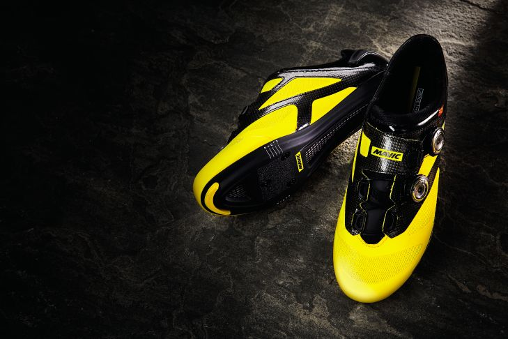yellow mavic cosmic shoes