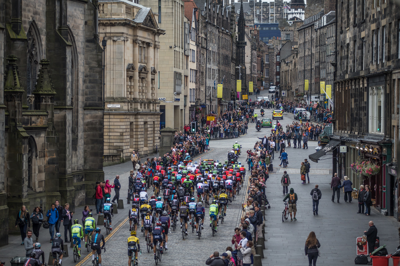 The Tour of Britain in Edinburgh