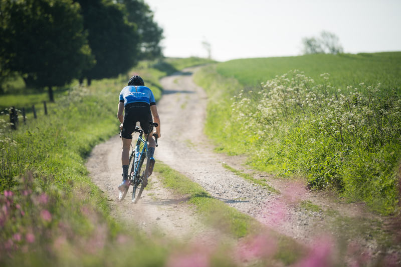 Kinesis Tripster bicycle on a gravel proad