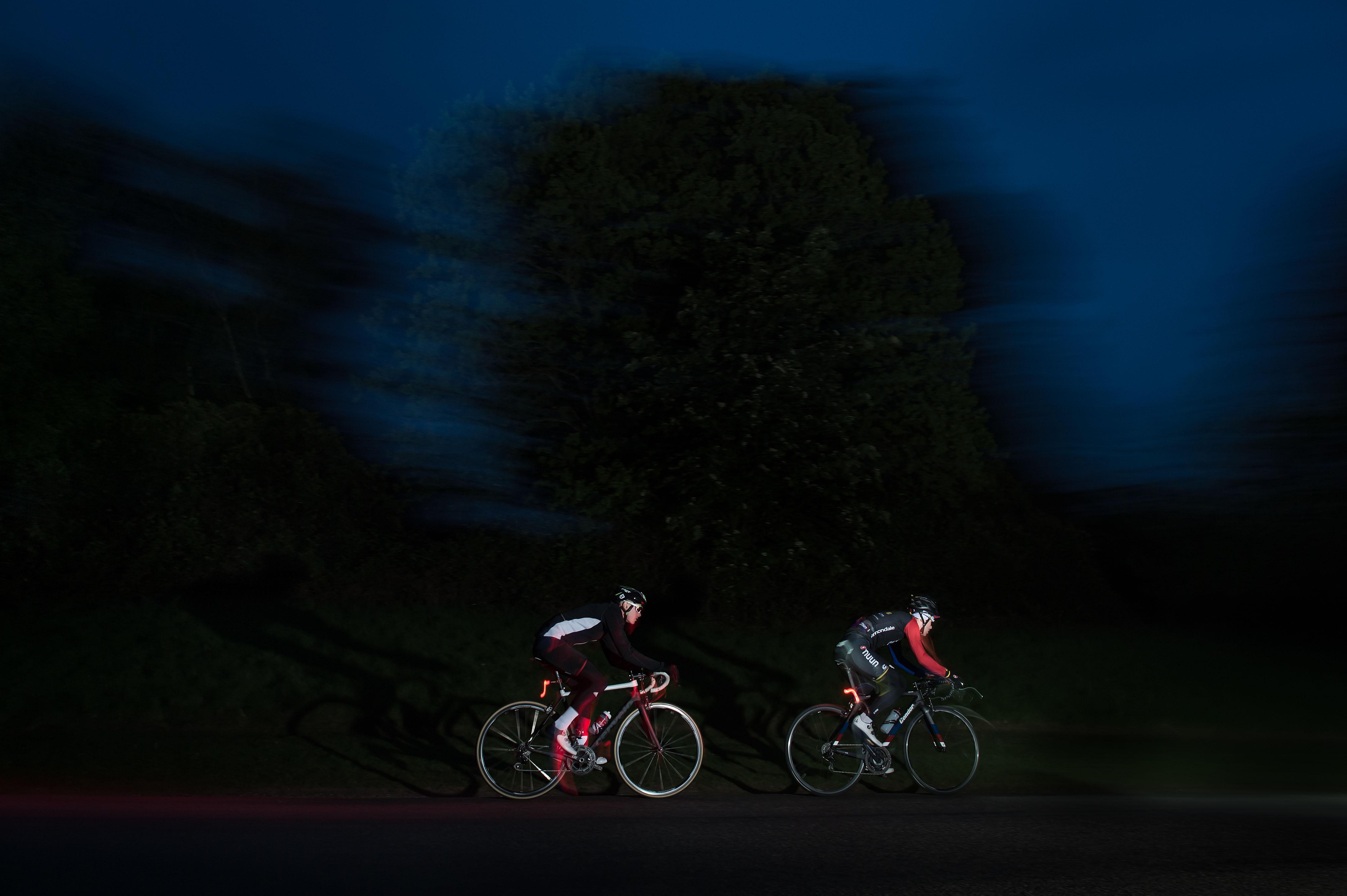 Red Bull TimeLaps riders in the dark