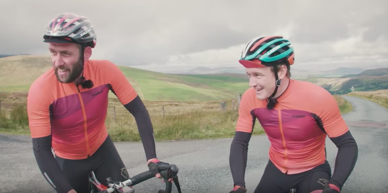 Mountain biker Marc Beaumont races road racer Tobyn Horton to see who's fastest