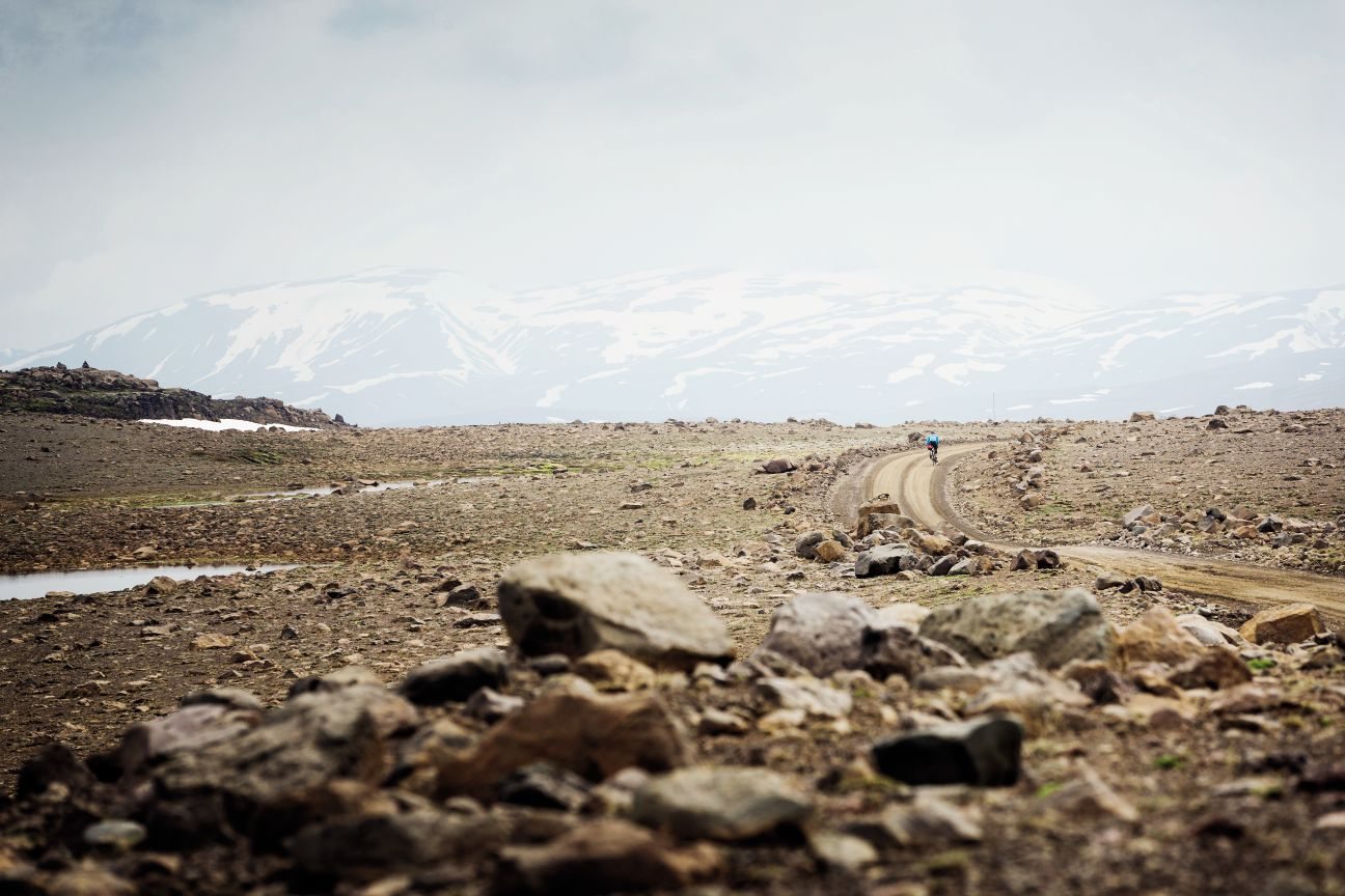 Cycling through the vast landscape of Iceland