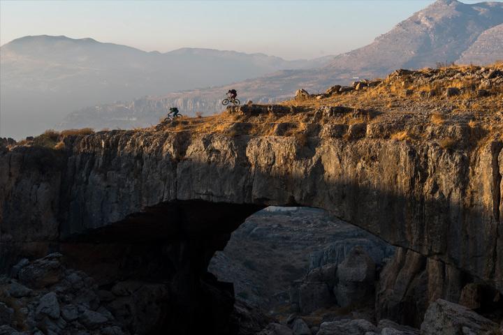 Riders getting rad over epic Lebanon landscape
