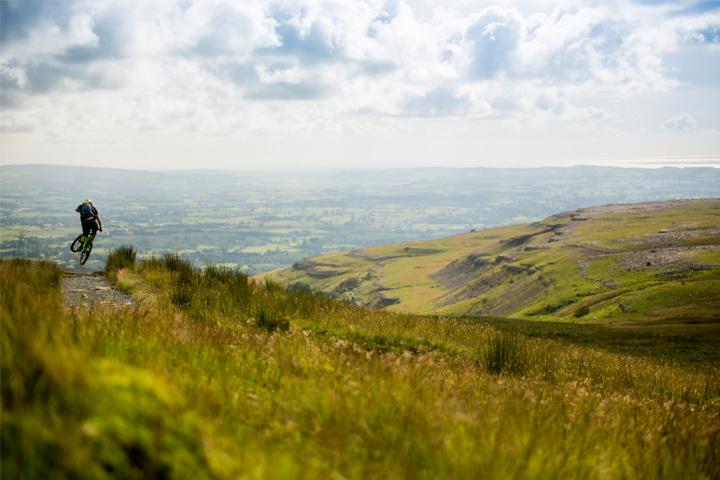 Expansive landscape of Ingleborough/Yorkshire Dales