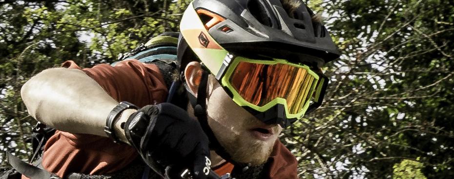 enduro rider open face mirrored lenses