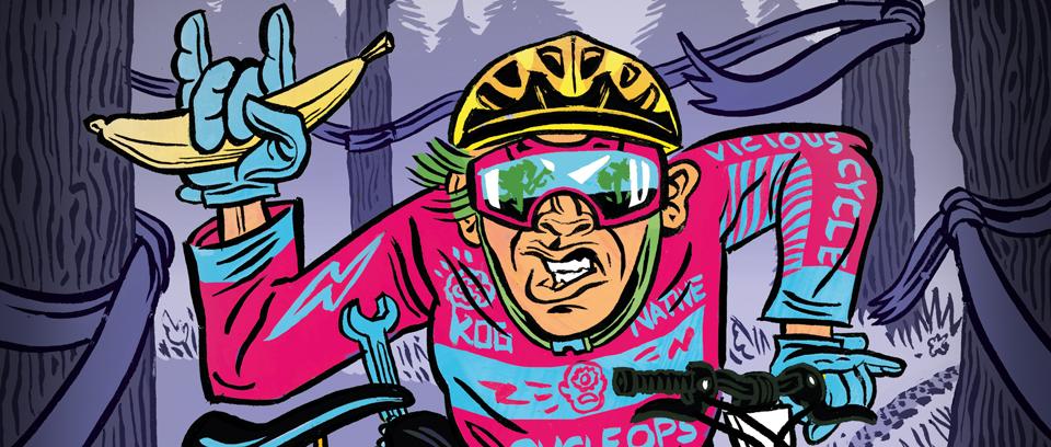 Illustration of enduro rider