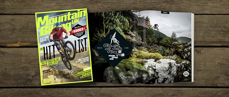 MBUK issue 349 cover and hardline double page spread