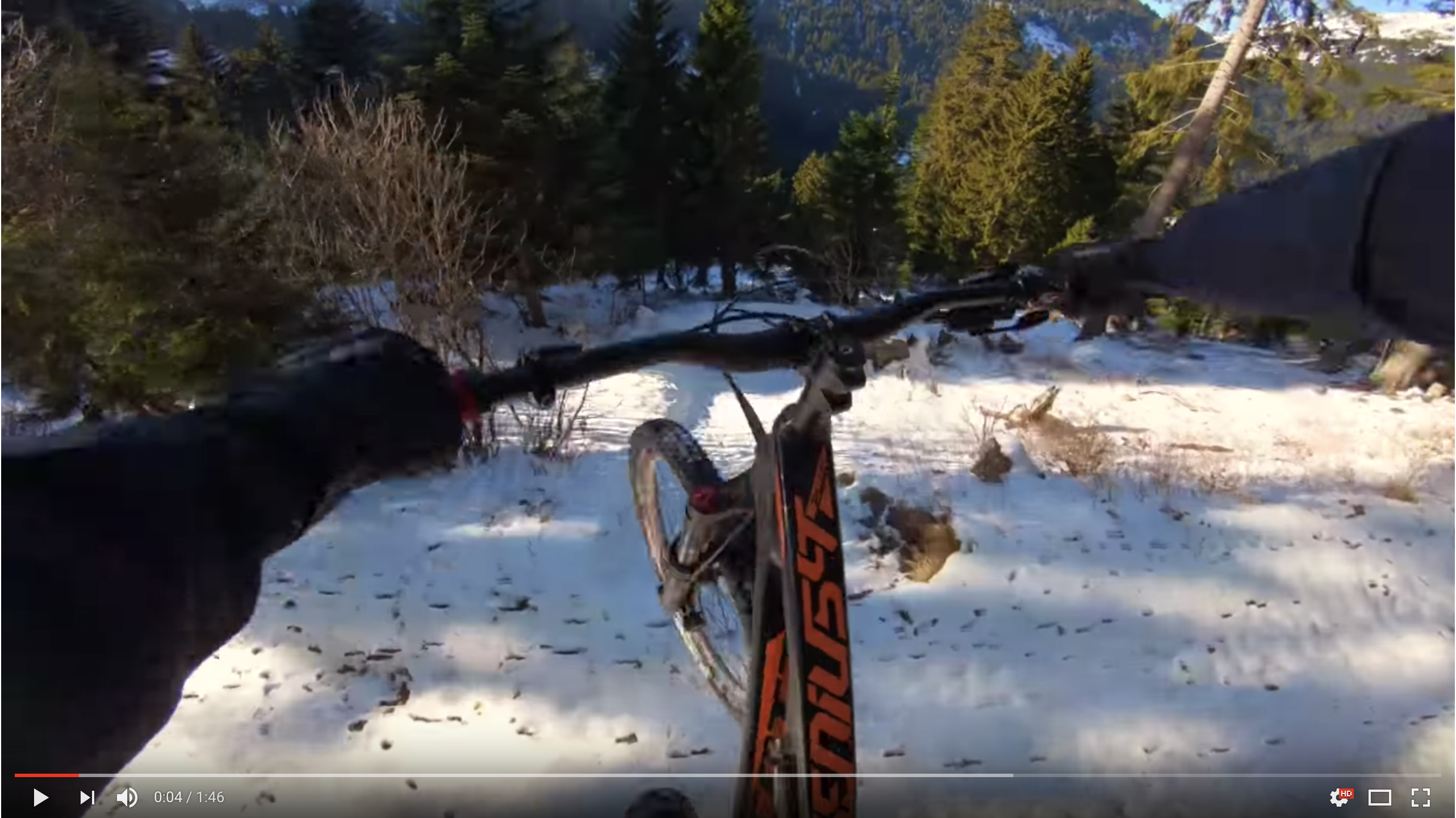 Vinny T hits the Air Voltage track at Bikepark Chatel.